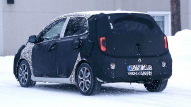 NUova Kia Picanto 2020: la city-car sulla neve della Svezia per i collaudi