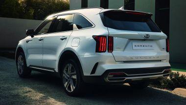Nuova Kia Sorento 2020: visuale di 3/4 posteriore