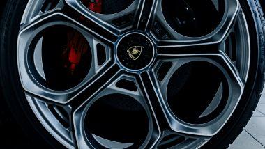 Nuova Lamborghini Countach 2022, dettaglio del cerchio in titanio