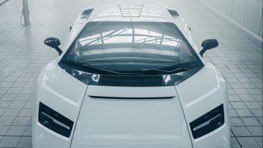 Nuova Lamborghini Countach 2022, dettaglio del parabrezza