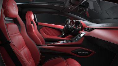 Nuova Lamborghini Countach 2022, gli interni
