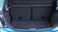 Nuova Lancia Ypsilon Hybrid: il vano bagagli con schienali posteriori abbattibili 50:50