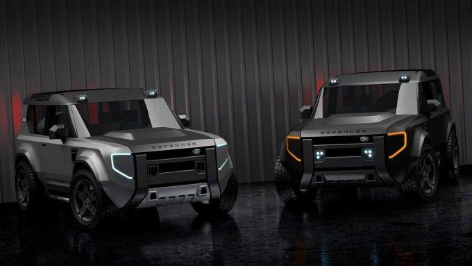 Nuova Land Rover Defender 80: i primi rendering del SUV compatto