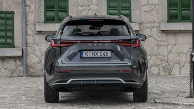 Nuova Lexus NX, il posteriore