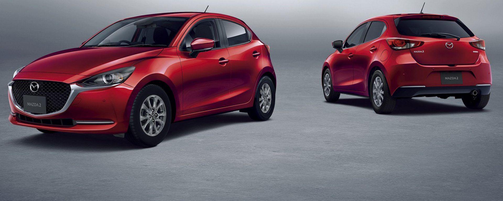 Nuova Mazda 2 2020: il facelift fronte e retro