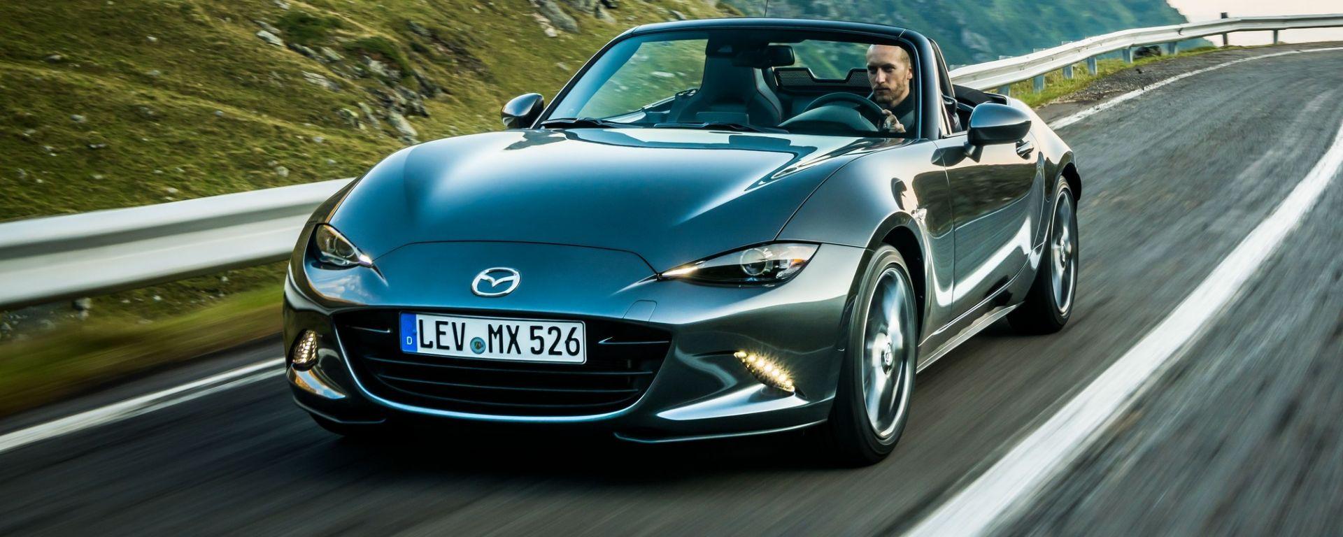 Nuova Mazda MX-5 2019: la prova sulla Transfagarasan [VIDEO]