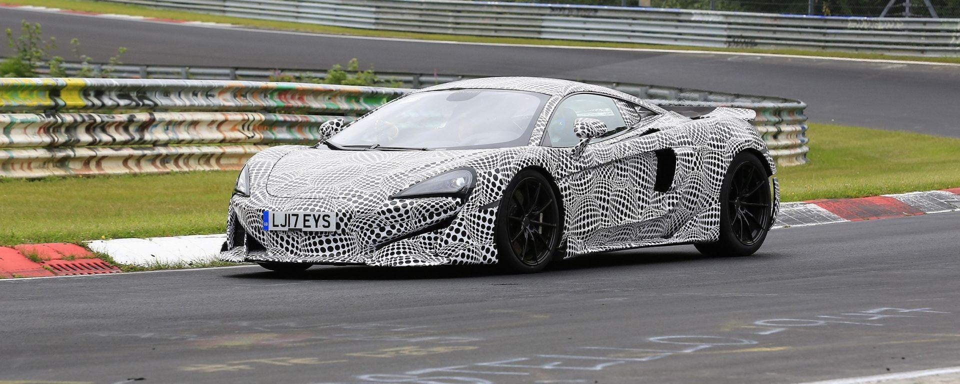 McLaren 600LT: spiata da vicino la nuova Super Series