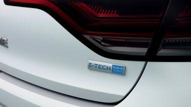 Nuova Mégane E-Tech: badge del sistema ibrido plug-in