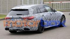 Nuova Mercedes-AMG C63: visuale all'ingresso del Nurburgring per le prove