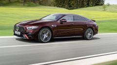 Nuova Mercedes-AMG GT Coupé4 53 4Matic+: visuale di 3/4 anteriore