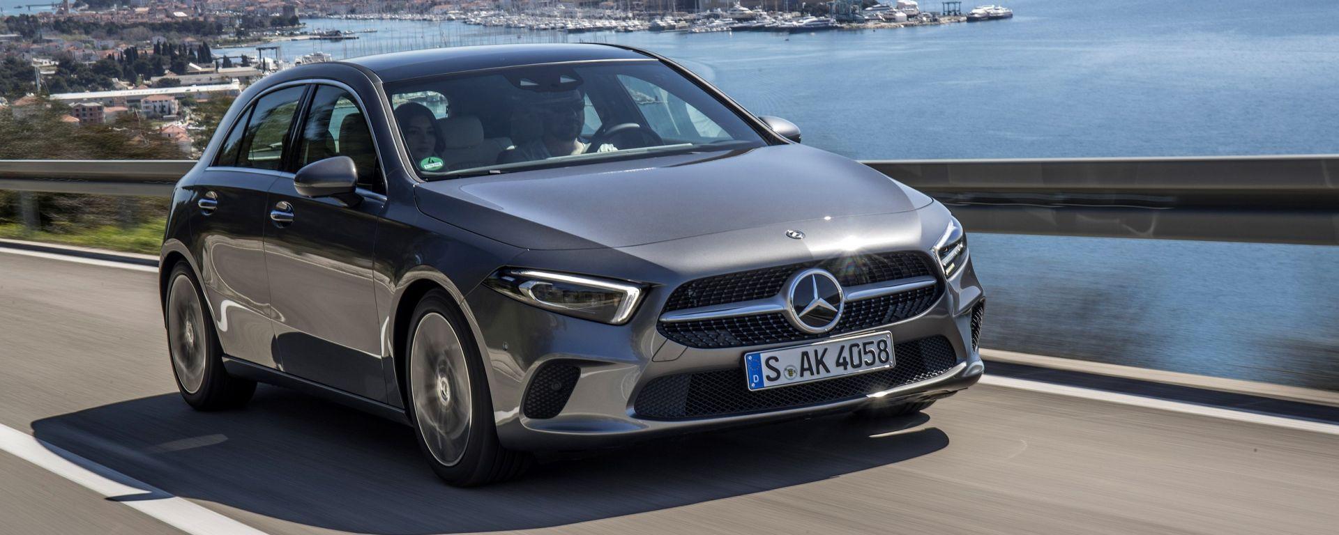 nuova mercedes classe a 200 e 180d 2018 prova uscita prezzo motorbox