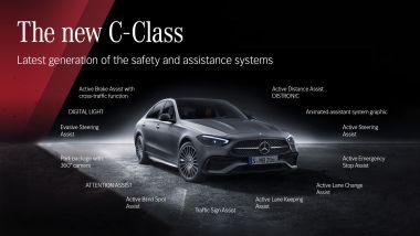 Nuova Mercedes Classe C 2021: i sistemi di assistenza alla guida