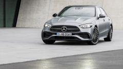 Nuova Mercedes Classe C berlina e sw: il 3/4 anteriore