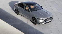 Nuova Mercedes Classe C berlina e sw: vista dall'alto