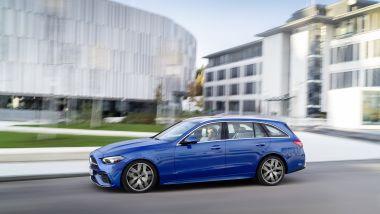 Nuova Mercedes Classe C SW: disponibile anche con l'asse posteriore sterzante opzionale