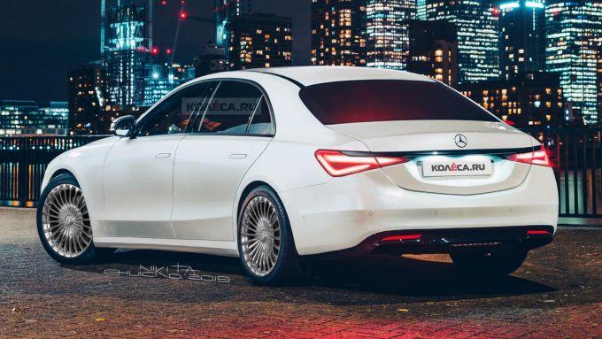 Nuova Mercedes Classe S, così la immagina il designer Nikita Chuiko