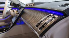Nuova Mercedes Classe S: le bocchette di aerazione per il passeggero anteriore destro