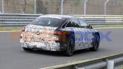 Nuova Mercedes EQS AMG: il muletto durante le prove in pista