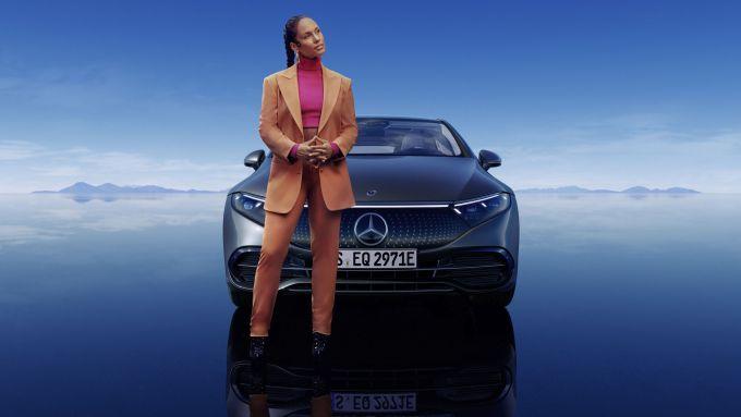 Nuova Mercedes EQS: madrina alla presentazione Alicia Keys