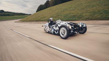 Nuova Morgan 3 Wheeler: inconfondibile lo schema a tre ruote