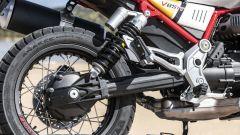 Nuova Moto Guzzi V85 TT 2019: dettaglio della trasmissione a cardano