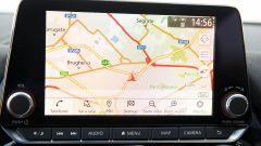 Nuova Nissan Juke 2020: il touchscreen del sistema infotainment