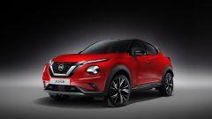 Nuova Nissan Juke 2020: vista 3/4 anteriore in rosso