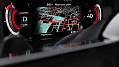 Nuova Nissan Qashqai 2021: la mappa del navigatore sul display dietro al volante