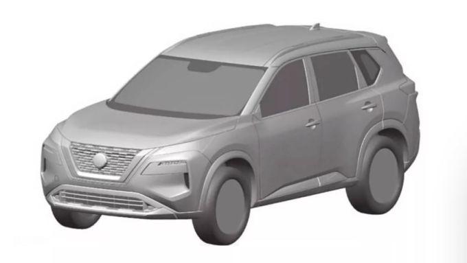 NUova Nissan X-Trail 2022: depositati i disegni all'ufficio brevetti