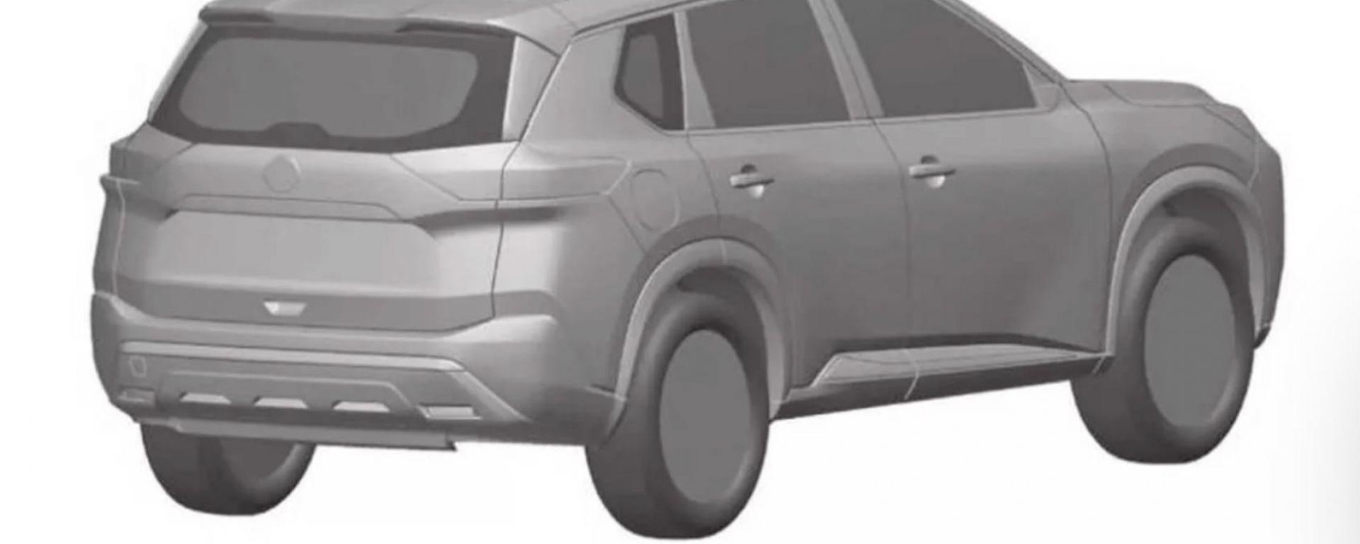 Nuova Nissan X-Trail 2022: i disegni depositati come brevetto