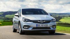 Nuova Opel Astra, vista frontale ravvicinata