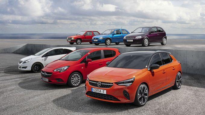 Nuova Opel Corsa 2019: tutta la storia della compatta tedesca in una foto