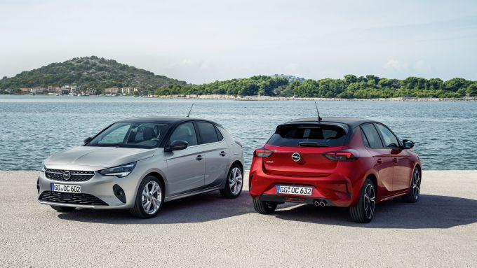 Nuova Opel Corsa 2020: vista davanti e dietro