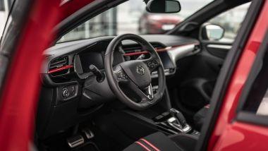 Nuova Opel Corsa-e GS Line: gli interni