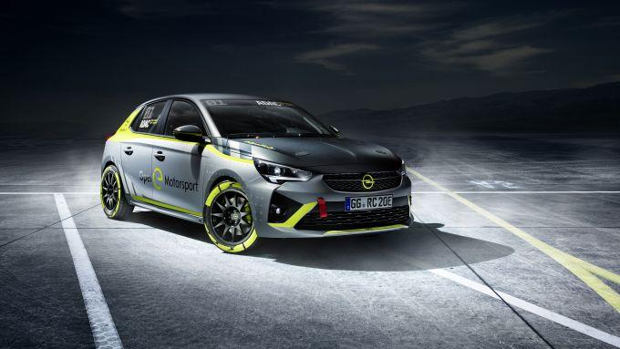 Nuova Opel Corsa e-rally: pronta per il campionato tedesco 100% elettrico del 2020