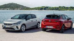 Nuova Opel Corsa, fronte e retro
