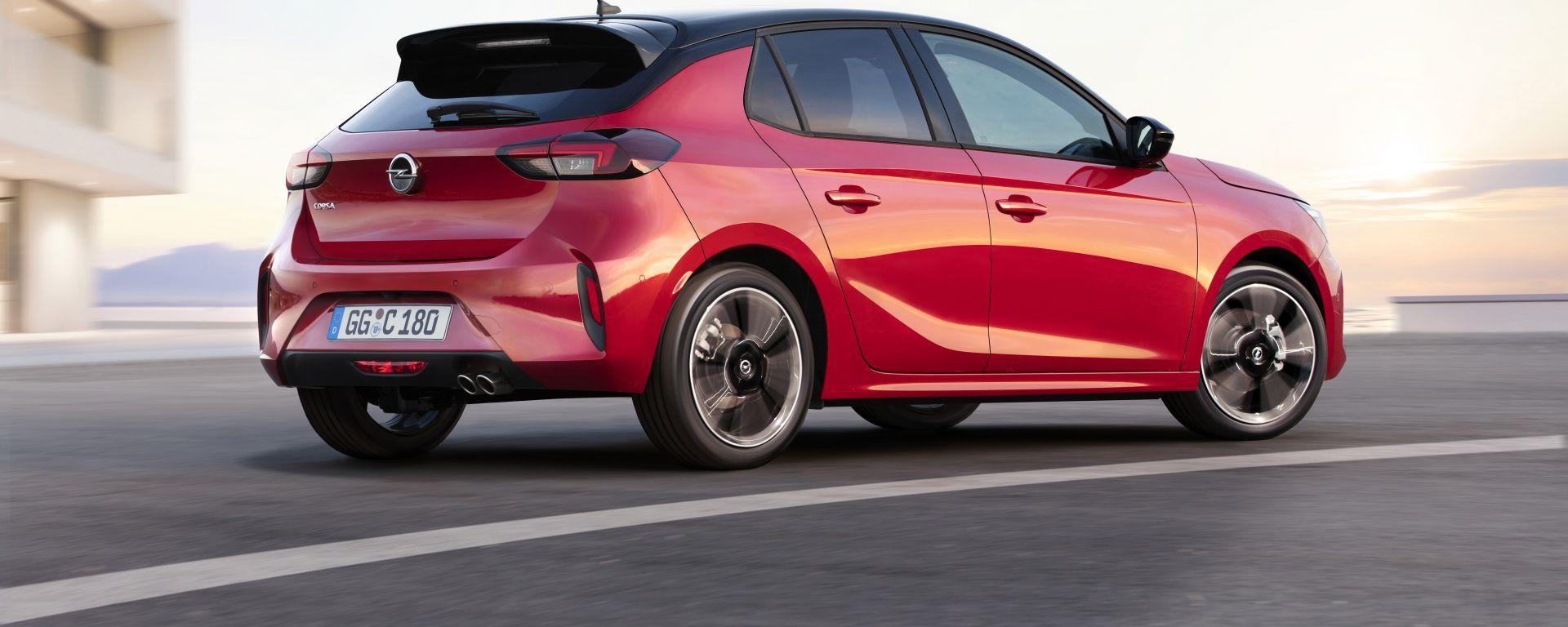 Nuova Opel Corsa: vista 3/4 posteriore