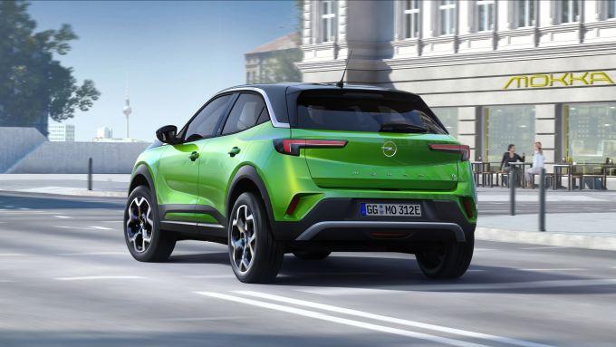 Nuova Opel Mokka, il posteriore