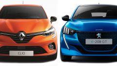 Renault Clio 2019 vs nuova Peugeot 208