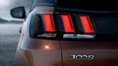 Nuova Peugeot 3008: le luci di coda ad artiglio