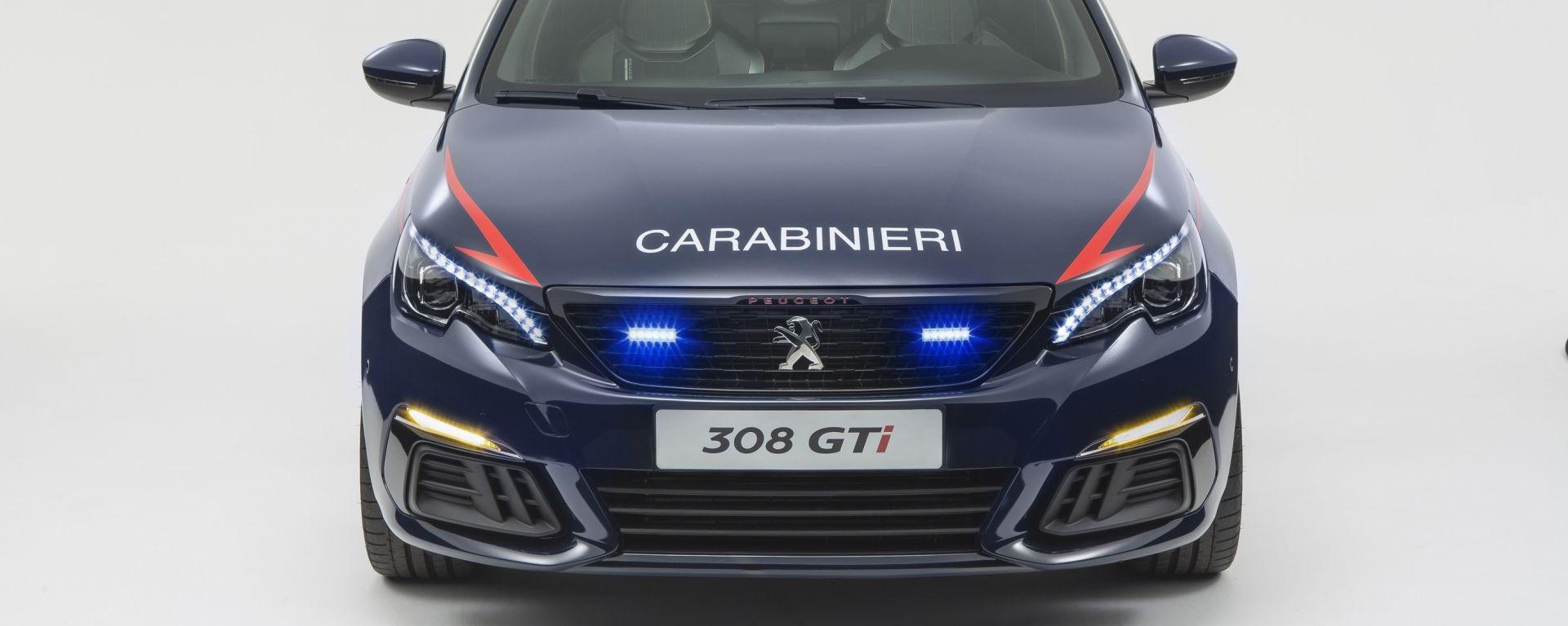 Nuova Peugeot 308 GTi arruolata nell'Arma dei Carabinieri