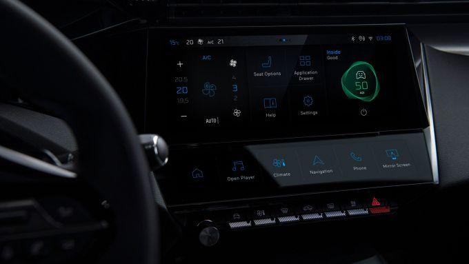 Nuova Peugeot 308: il nuovo schermo dell'infotainment