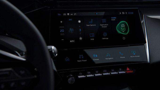 Nuova Peugeot 308: il ponte di comando con pulsanti virtuali e analogici