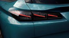 Nuova Peugeot 308 SW: i gruppi ottici posteriori