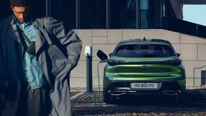 Nuova Peugeot 308: visuale posteriore