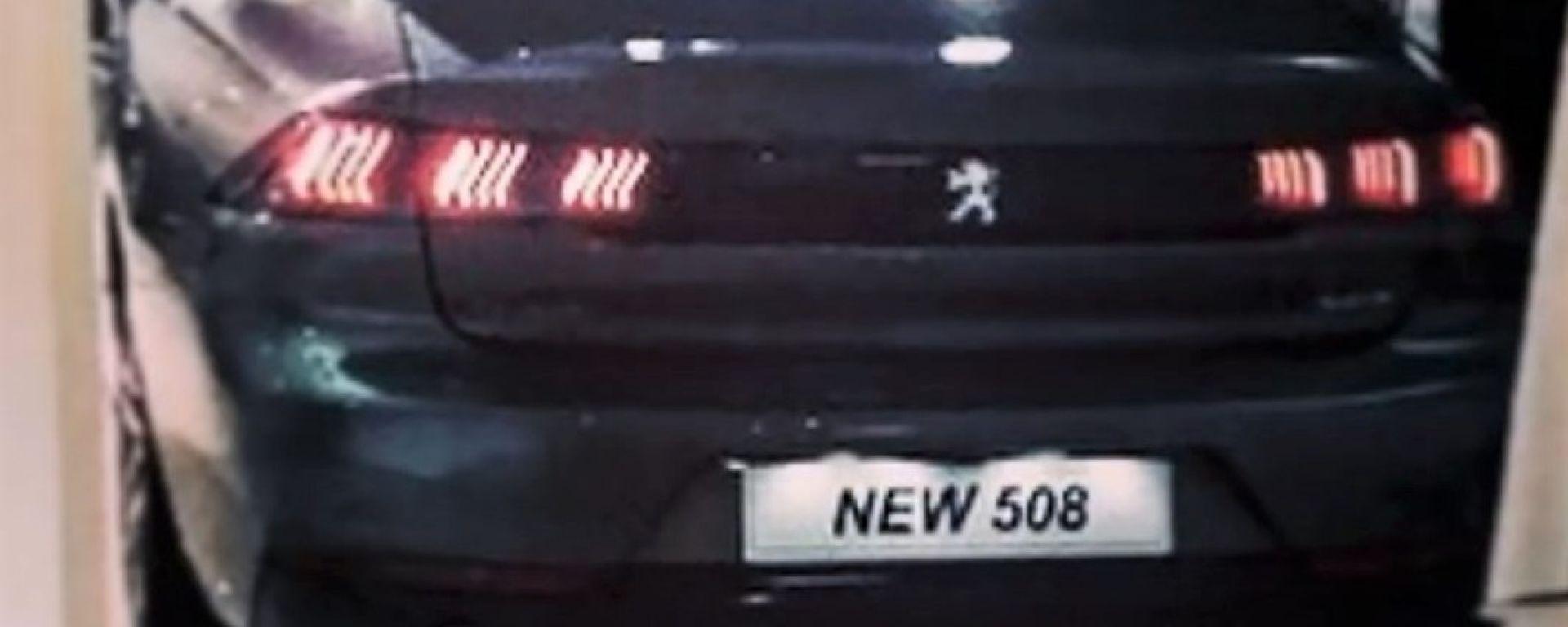 Nuova Peugeot 508 2019: uno scatto del posteriore