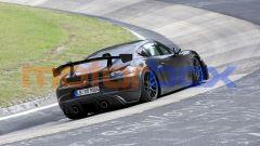 Nuova Porsche 718 Cayman GT4 RS: che ala posteriore! Sarà così anche sul modello di produzione?