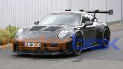 Nuova Porsche 911 GT3 RS: visuale di 3/4 anteriore