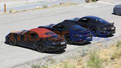 Nuova Porsche 911 Turbo Cabrio 2020, le auto impegnate nei test
