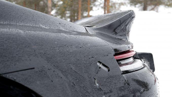 NUova Porsche 911 Turbo S Duck Tale: la coda d'anatra vista da vicino